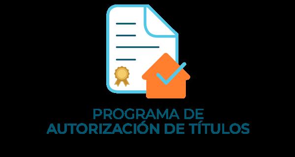 Programa de Autorización de Titulo